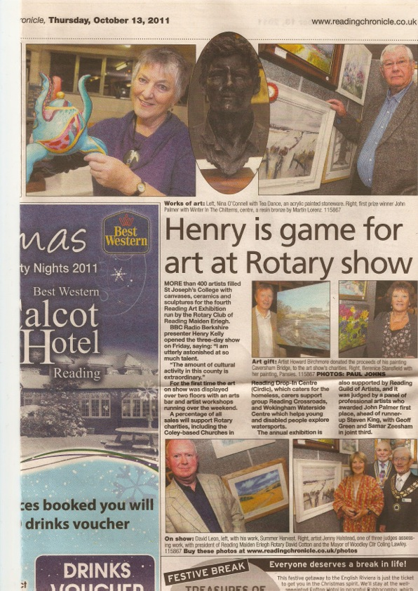 Henry is game for art at rotary show article